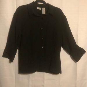 Black White Stag blouse